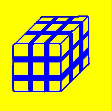 cube of cubes - yellow and blue.JPG