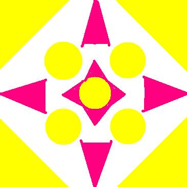 symmetrical ornament - pink and yellow.JPG