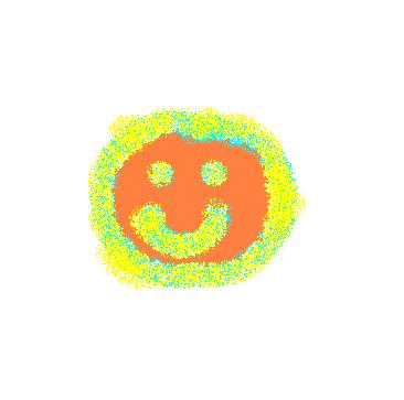 smile - orange, with blue and yellow spray.JPG