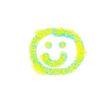 smile - blue and yellow spray.JPG