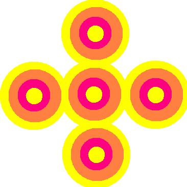 flowers of multicolorful circles.JPG