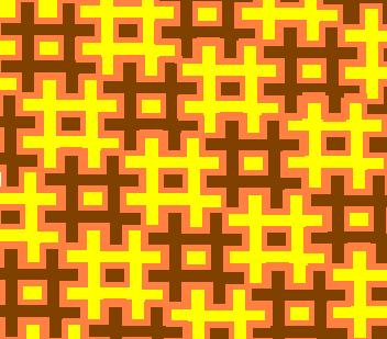 puzzle mosaic - brown and yellow triple edition.JPG