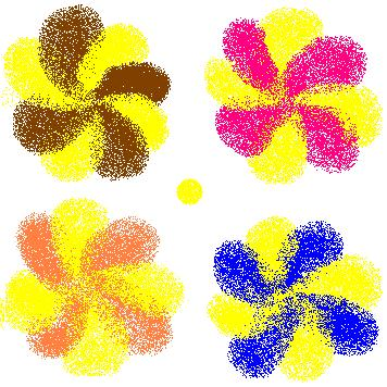 brown yellow cookie flower + other flowers.JPG