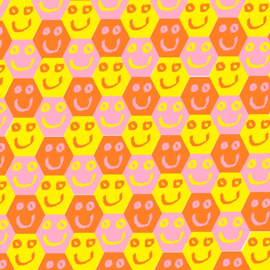 mosaic of smiling hexagons - II . 8-).jpg