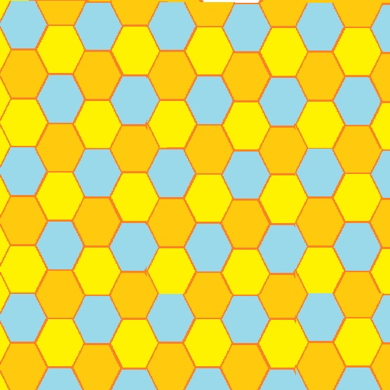 patterned mosaic of many hexagons - bl+o+y.jpg