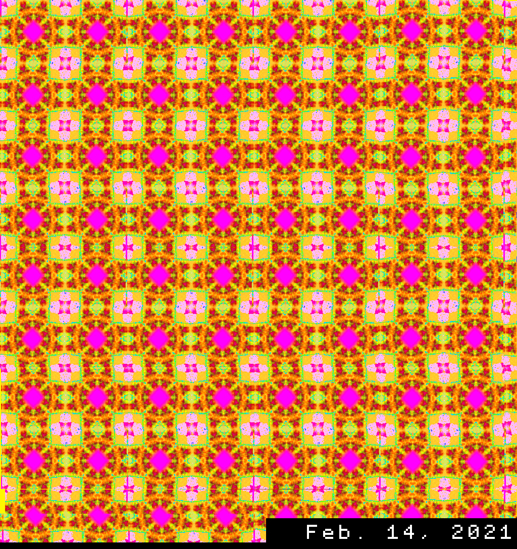 Patterned mosaic of many rings and many flowers.png
