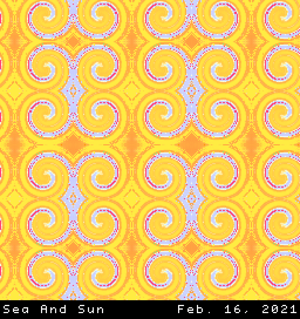 Patterned mosaic of the cooperation between the sun and the sea.png